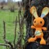 Amigurumi yellow bunny
