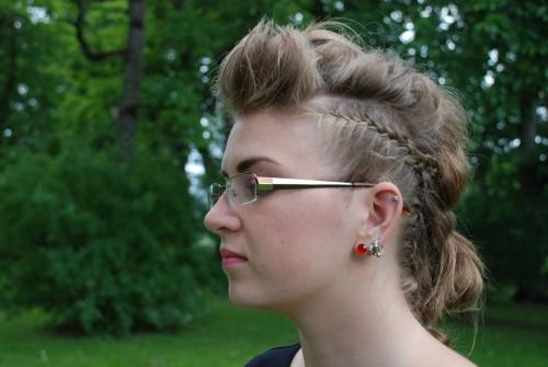 punk hairdo